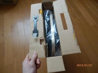 足温器の箱を開けたとこです。